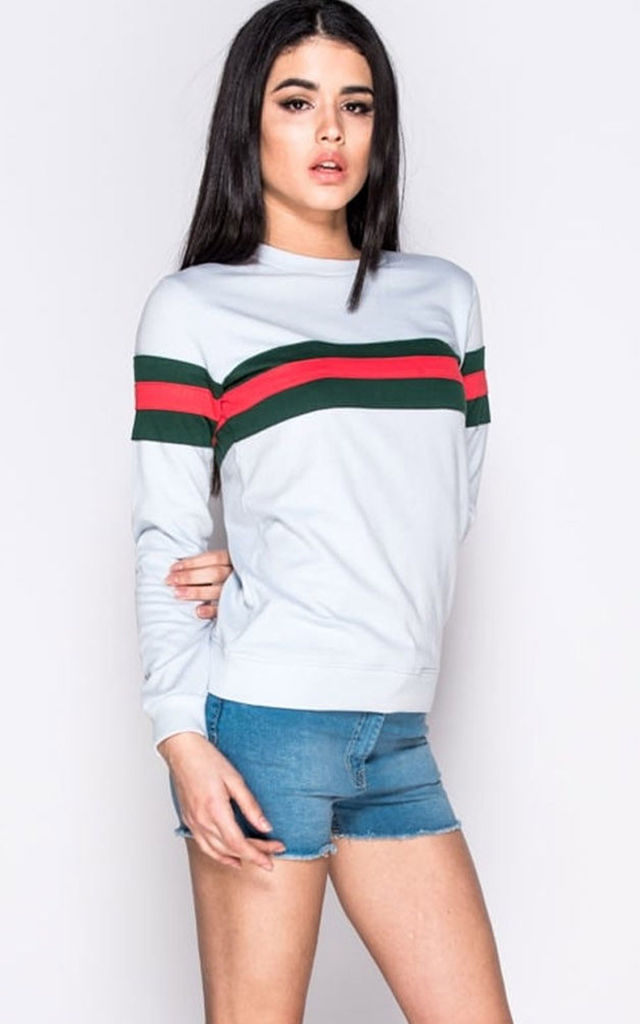 Sweatshirt in Sky Blue with Stripe by Save The People