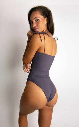 BAMBI ONEPIECE SWIMSUIT // PEBBLE GREY by NOVAH SWIMWEAR