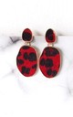 Red Leopard Print Earrings by Olivia Divine Jewellery