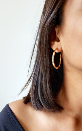 Steph Gold Hoop Earrings by AVAAYA Product photo