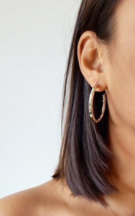 Steph Silver Hoop Earrings by AVAAYA Product photo