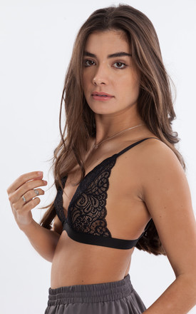 Black Swirl Bralette by Mint Alice London