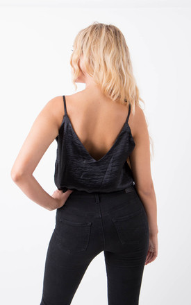 Black Satin Bodysuit by MISSTRUTH