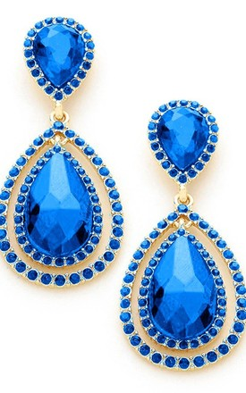 Royal Blue Double Teardrop Earrings by Olivia Divine Jewellery Product photo