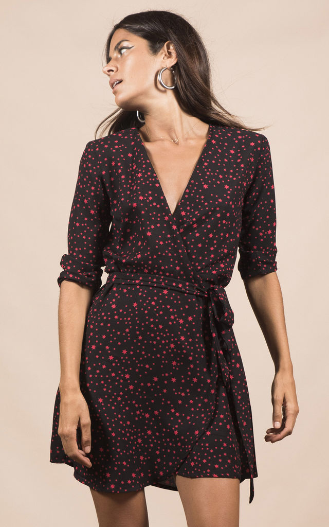 ZEINA DRESS IN MIDNIGHT RED STAR image