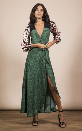 Jagger Dress In Small Green Leopard Mix Print by Dancing Leopard Product photo