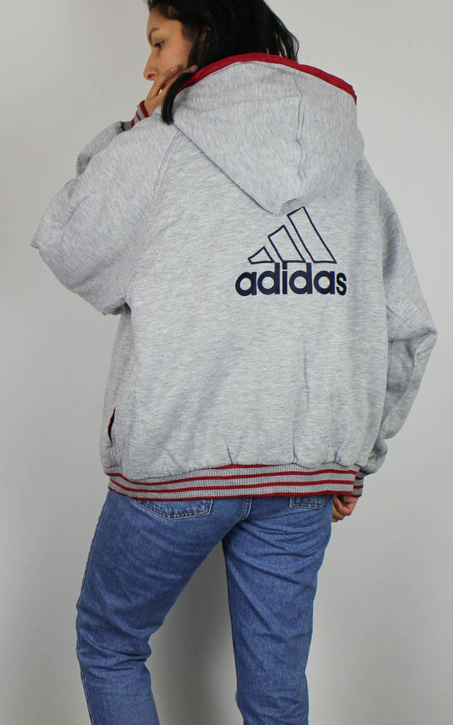 Vintage Adidas 2IN1 REVERSIBLE Puffer Bomber Coat Jacket by Re:dream Vintage