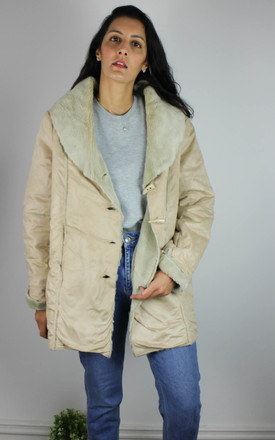 Vintage Faux Sheepskin Coat with Faux Fur Lining by Re:dream Vintage