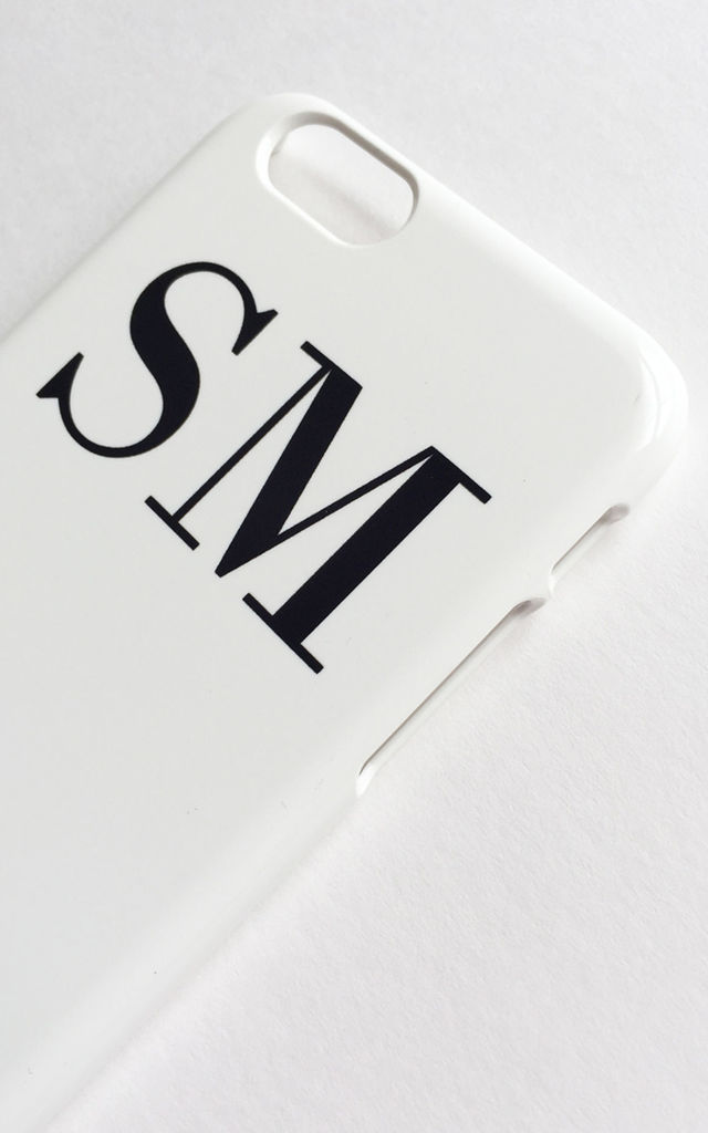 Personalised white and black iPhone & Samsung case by Rianna Phillips