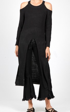 PALMER KNITTED JUMPER DRESS in CHARCOAL by Jovonna London