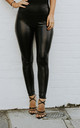 TILLY Black PVC Leggings by Giorgi London