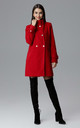 Red Coat With Stand-Up Collar by FIGL