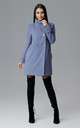 Blue Coat With Stand-Up Collar by FIGL
