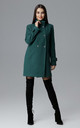 Green Coat With Stand-Up Collar by FIGL