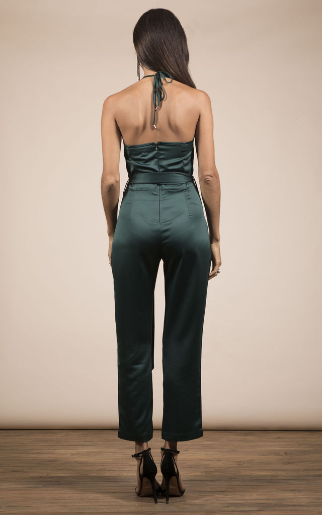 LEXI JUMPSUIT IN PINE GREEN image