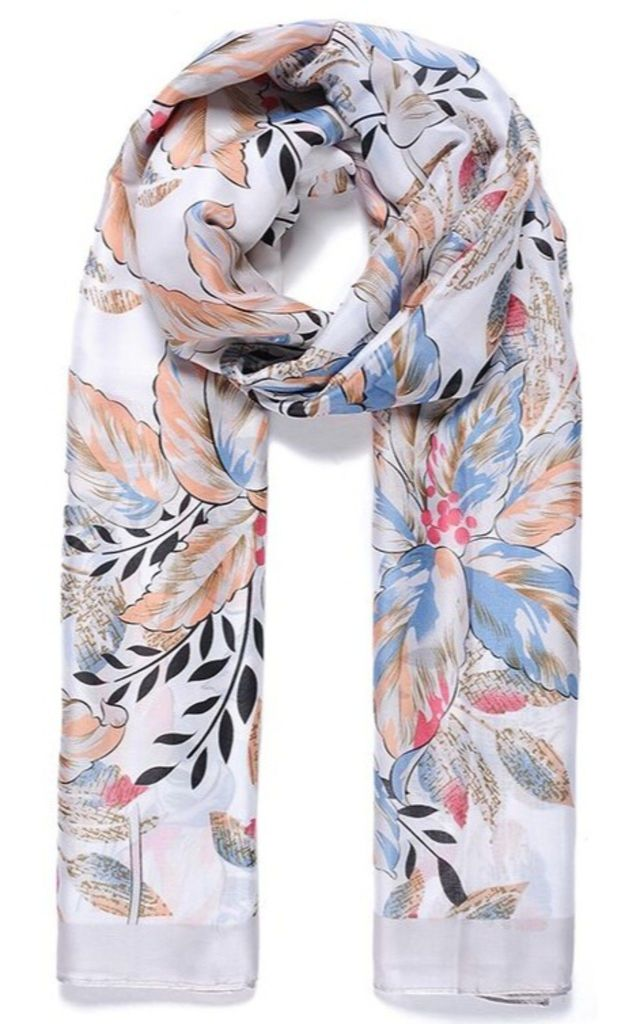 Botanic Print Multicolour Scarf by Ruby Rocks Boutique