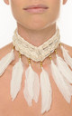 FEATHERD - Neutral Choker Necklace by For the salty souls