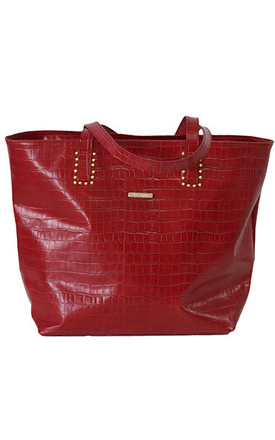 MAXI SHOPPER STUDS RED by THE CODE HANDBAGS