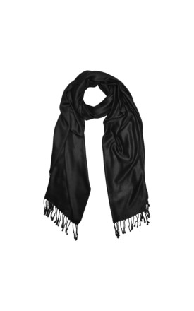 Pashmina In Black by White Leaf Product photo