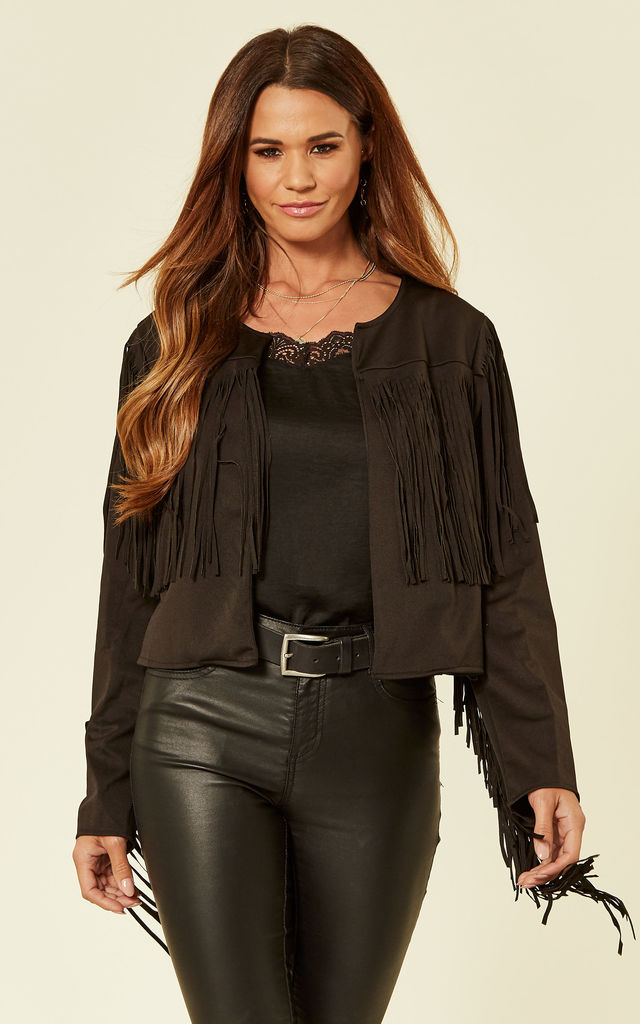 Black Tassel Jacket by Oeuvre