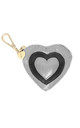 BLACK AND SILVER HEART COIN PURSE by Luna Love London