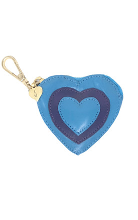 BLUE AND PURPLE HEART COIN PURSE by Luna Love London