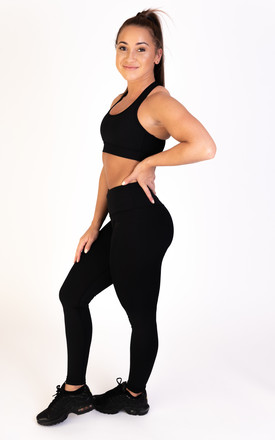 Extra High Waisted Leggings Black by Sculpt Activewear Product photo