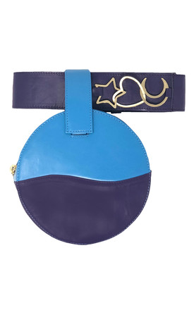 LUCID BLUE AND PURPLE BELT BAG / CLUTCH by Luna Love London