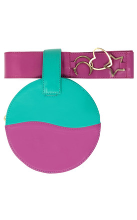 LUCID PINK AND GREEN BELT BAG / CLUTCH by Luna Love London