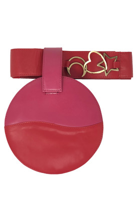 LUCID RED AND PINK BELT BAG / CLUTCH by Luna Love London