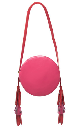 RED TALA TASSEL & HEART HANDBAG by Luna Love London