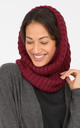 Merino Wool Infinity Snood Scarf Bordeaux by likemary