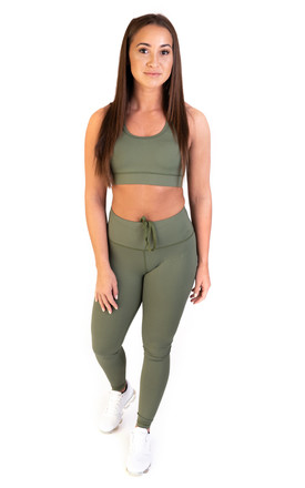Extra High Waisted Leggings Khaki by Sculpt Activewear Product photo