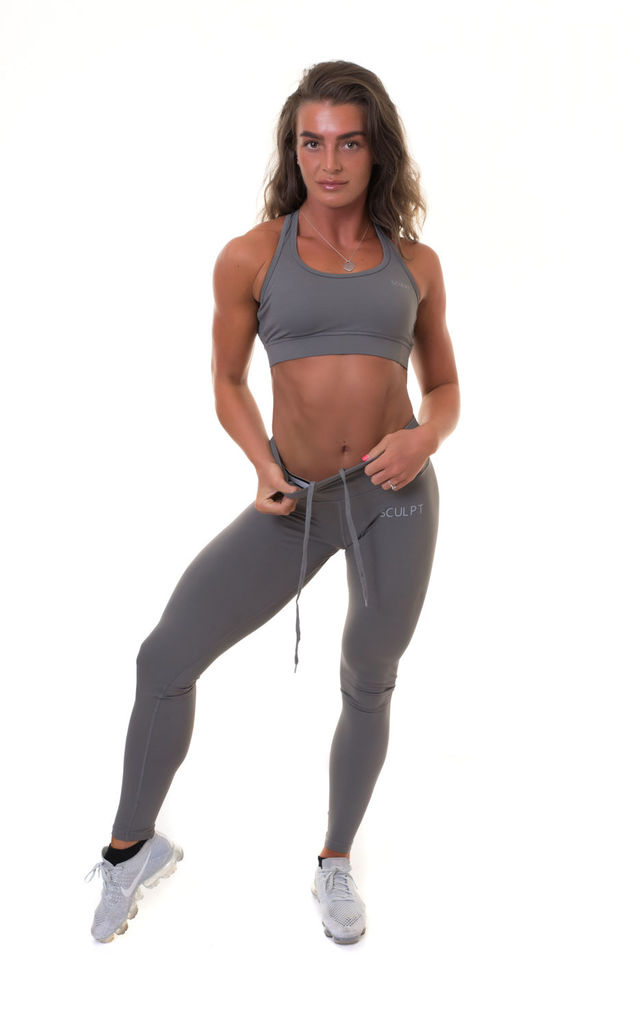Extra High Waisted Leggings Grey by Sculpt Activewear