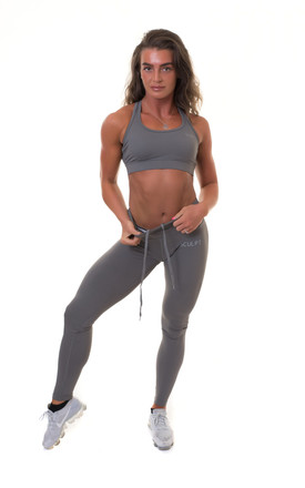 Extra High Waisted Leggings Grey by Sculpt Activewear Product photo