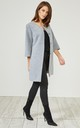 Grey Textured Smart Coat Jacket by URBAN TOUCH