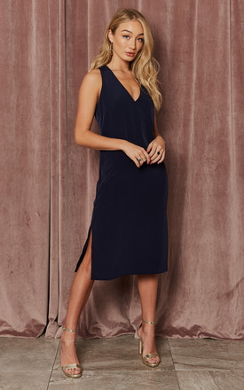 Karlie Navy Twist Back Slip Dress by India Gray Product photo