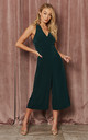 d639f5a9f9c1 Adriana Forest Green twist back strap jumpsuit by India Gray