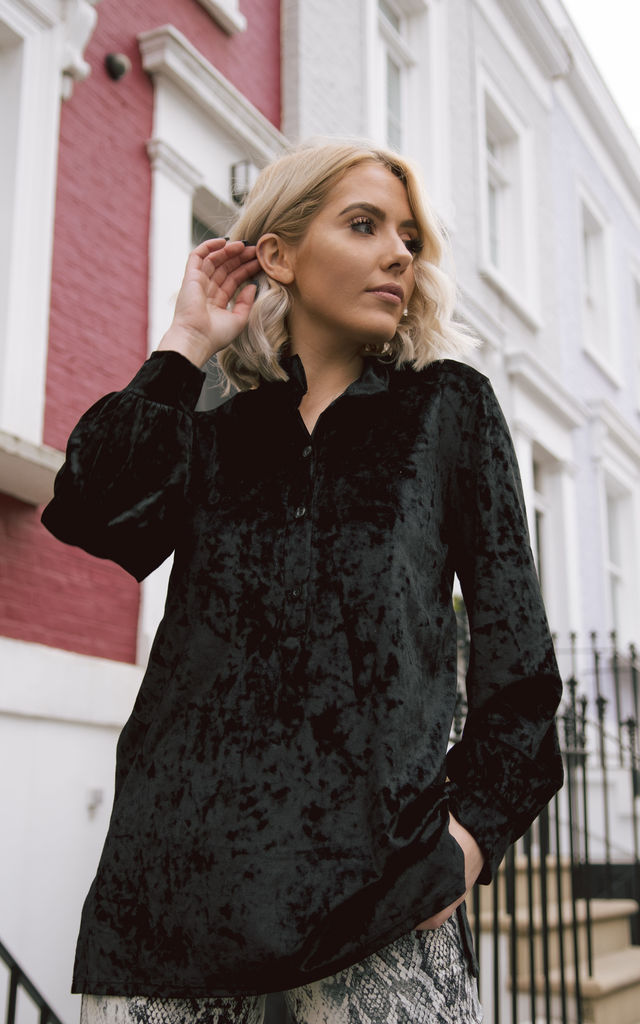 black velvet shirt by From London with Love
