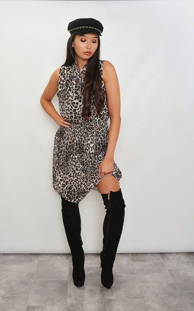 LEOPARD PLEATED DRESS by Leigh Taylor