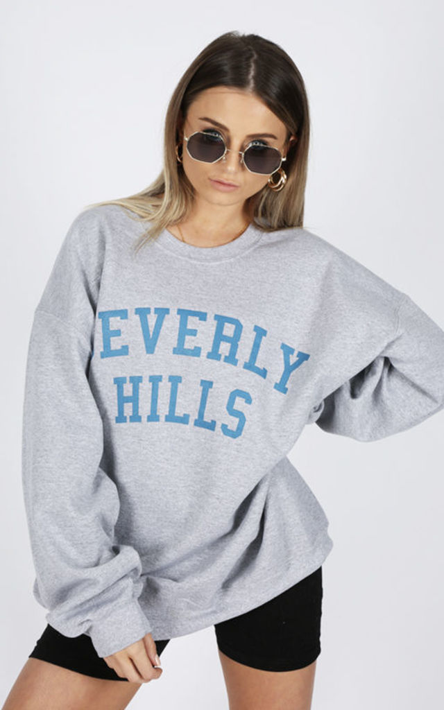BEVERLY HILLS GREY SWEATER by Cats got the Cream