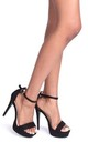 Alesha Black Suede Platform Stiletto Heel by Linzi