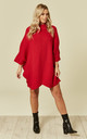 Red Knitted Dress by DIVINE GRACE