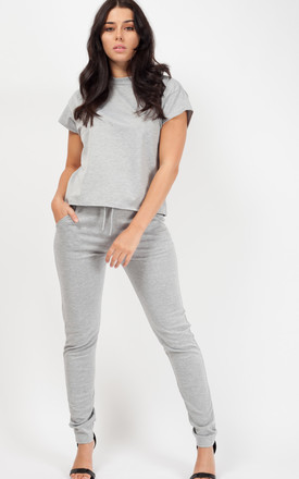 Niyah Short Sleeve Boxy Loungewear Co Ord In Grey by Vivichi Product photo
