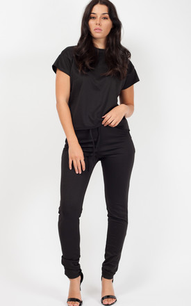 Niyah Short Sleeve Boxy Loungewear Co Ord In Black by Vivichi Product photo