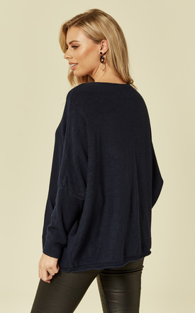 Navy Oversized Jumper by DIVINE GRACE
