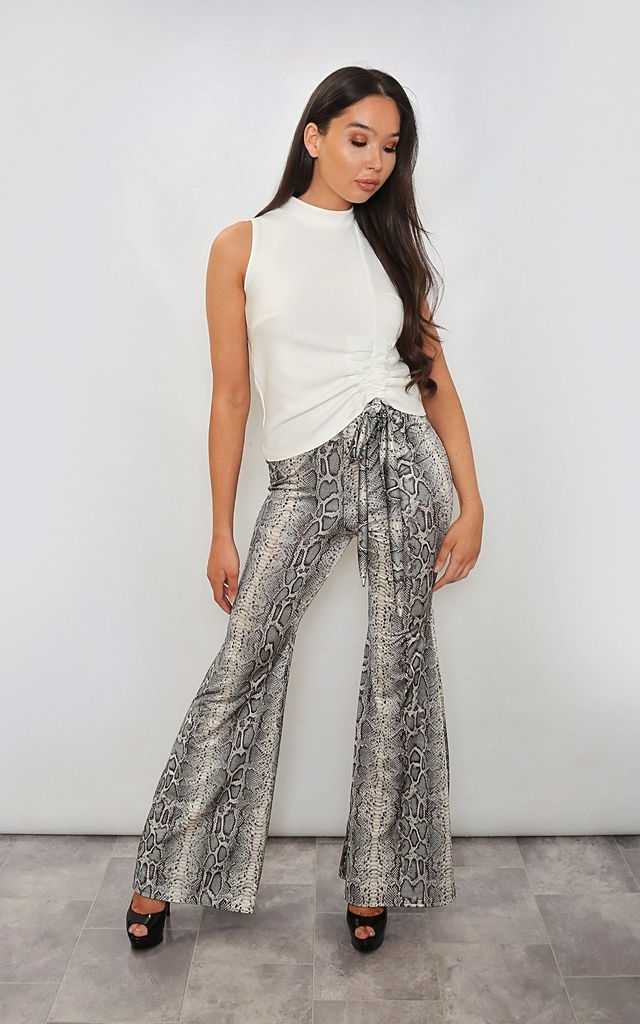 Snake Print Flares by Leigh Taylor