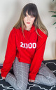 Personalised Year Hoodie in Red by Rock On Ruby