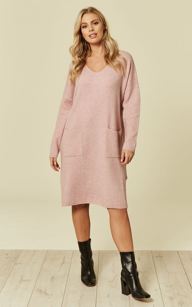 Pink Knitted Dress by DIVINE GRACE