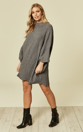 Grey Knitted Dress by DIVINE GRACE